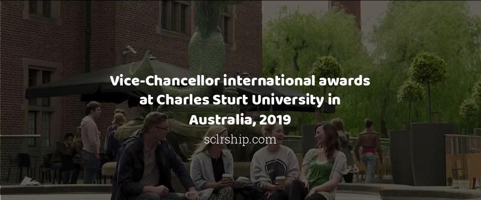 Vice-Chancellor international awards at Charles Sturt University in Australia, 2019
