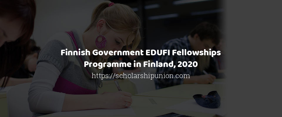 Finnish Government EDUFI Fellowships Programme in Finland, 2020