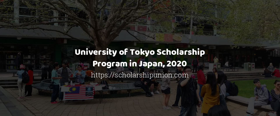University of Tokyo Scholarship Program in Japan, 2020