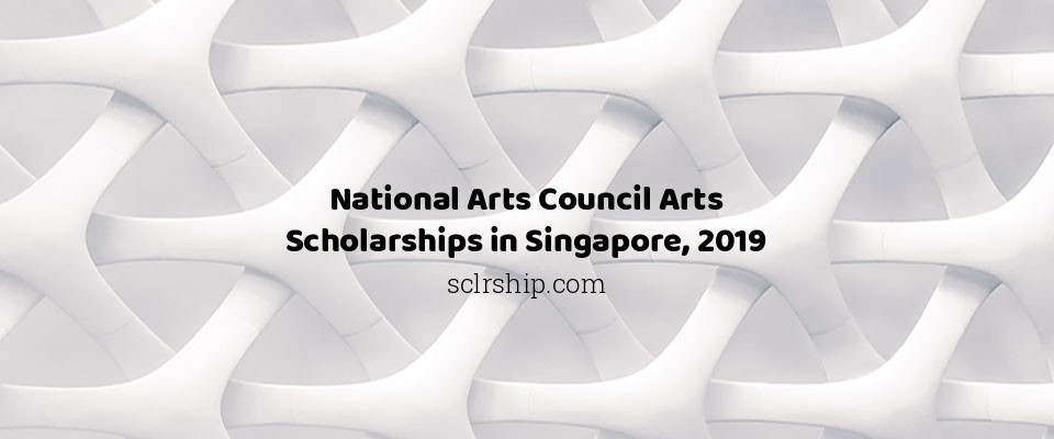 National Arts Council Arts Scholarships in Singapore, 2019