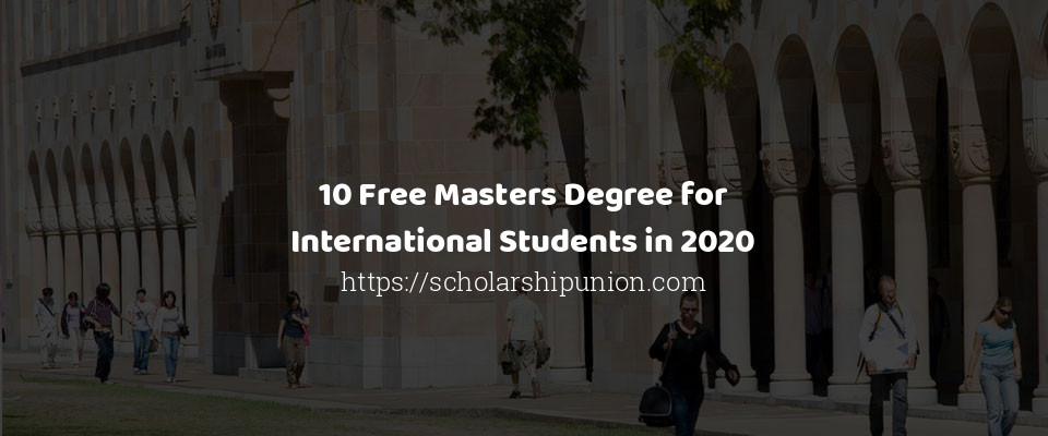 free masters degree for international students