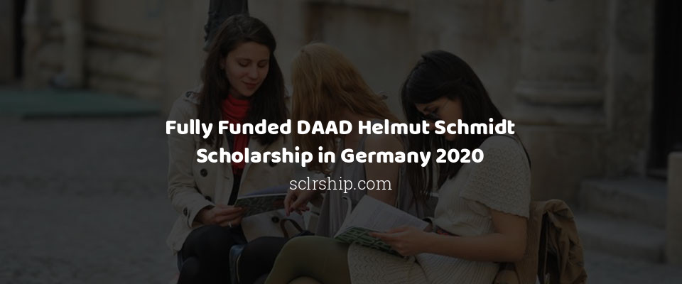 Fully Funded DAAD Helmut Schmidt Scholarship in Germany 2020
