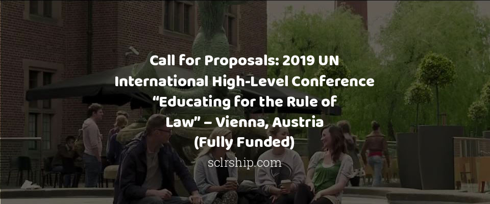 Call for Proposals: 2019 UN International High-Level Conference