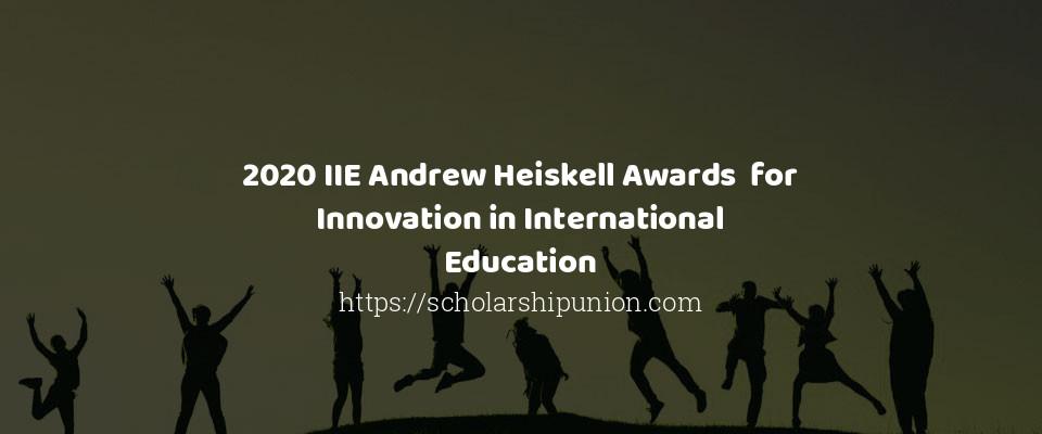 2020 IIE Andrew Heiskell Awards  for Innovation in International Education