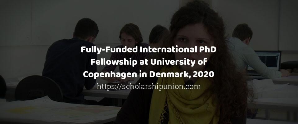 Fully-Funded International PhD Fellowship at University of Copenhagen in Denmark, 2020