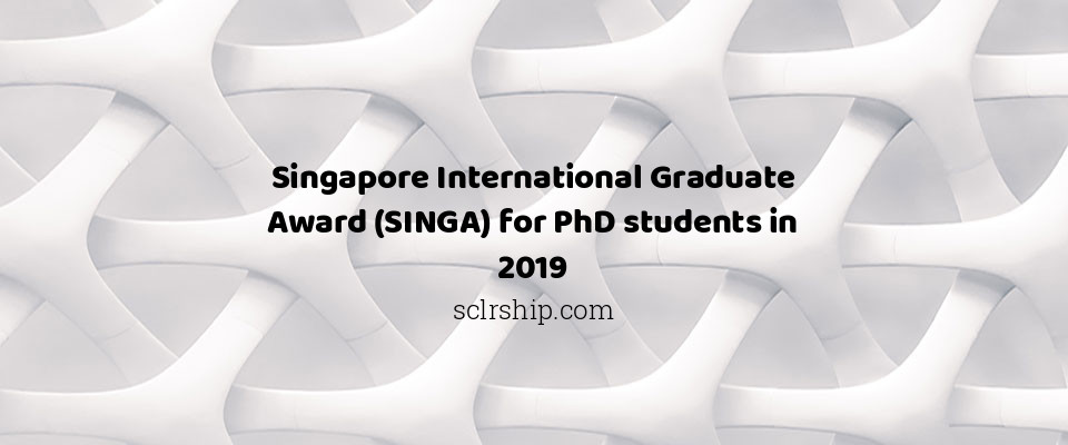 Singapore International Graduate Award (SINGA) for PhD students in 2019