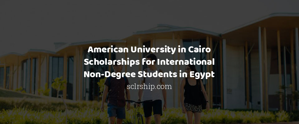 American University in Cairo Scholarships for International Non-Degree Students in Egypt