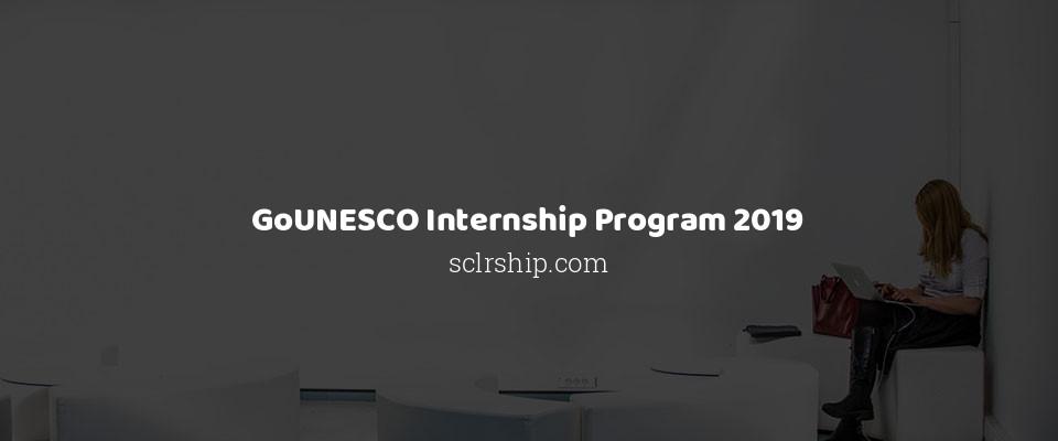 GoUNESCO Internship Program 2019