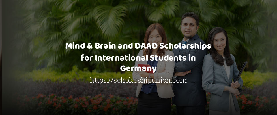 Mind & Brain and DAAD Scholarships for International Students in Germany