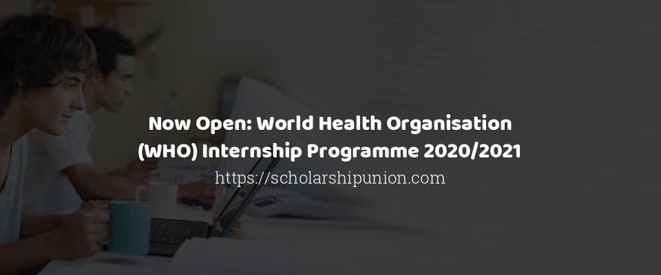 Now Open: World Health Organisation (WHO) Internship Programme 2020/2021