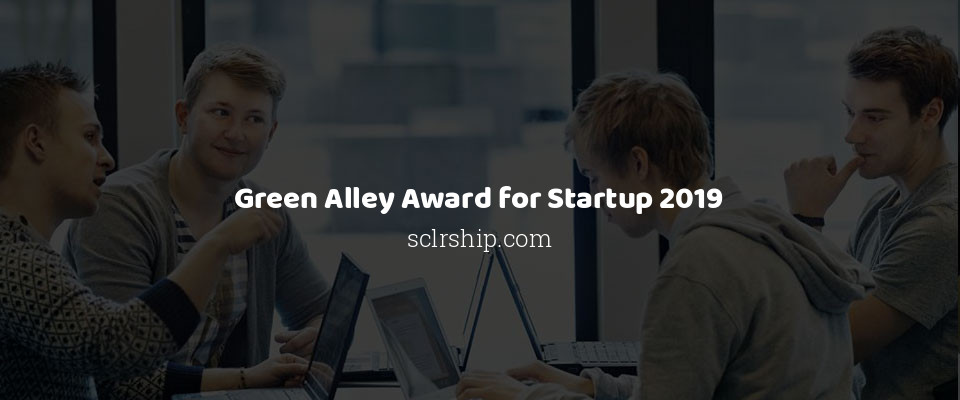 Green Alley Award for Startup 2019